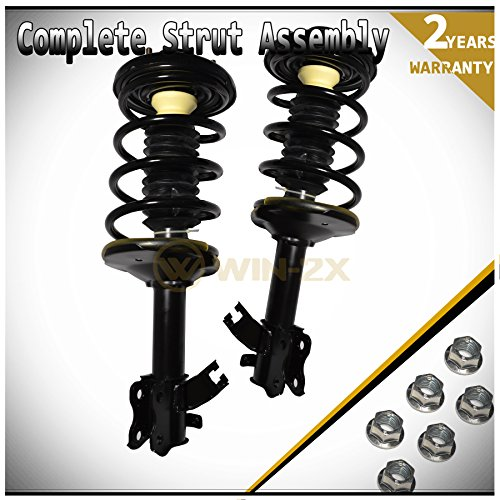 WIN-2X New 2pcs Front Left & Right Side Quick Complete Suspension Shock Struts & Coil Springs Assembly Kit Fit 95-99 Nissan Maxima 96-99 Infiniti I30