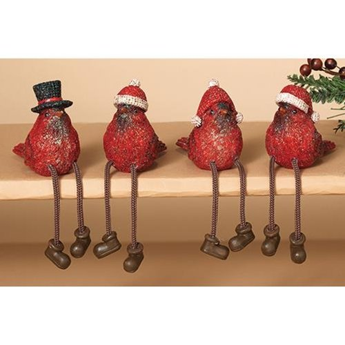 Heart of America Assorted Resin Cardinal Sitters - Set of 4