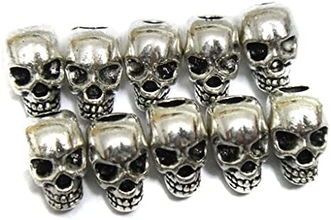 Bracelets and Earrings Making Skylly 30pcs Approx Tibet Silver Skull Spacer Beads---Great DIY Accessories for Necklace