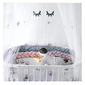 LFEWOX 4M Bettschlange Nestchenschlange f/ür Baby Bettrolle Bettumrandung Babybettschlange Babybett Baby Nestchen Bettumrandung Weben Geflochtene Sto/ßf/änger Dekoration f/ür Krippe