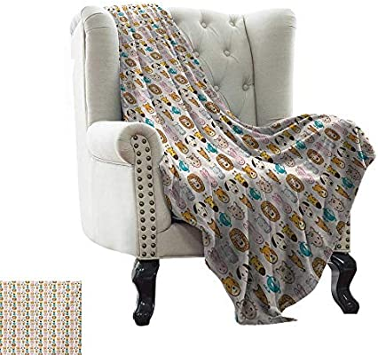 Amazon.com: Custom Sofa Bed Throw Blanket Baby,Caricature ...