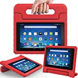 """eTopxizu Case for All-New Fire HD 8 2017 - Kids Shockproof Convertible Handle Light Weight Protective Stand Cover Case for Fire HD 8"""" Display Tablet (7th Generation, 2017 Release Only), Red"""