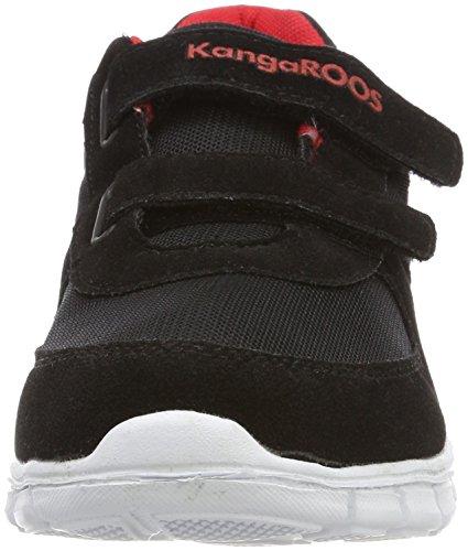 KangaROOSBlueKids 2082 - Zapatillas Niñas Negro (BLACK/FLAME RED)