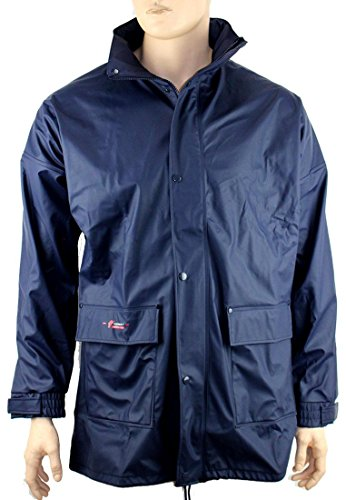 NORWAY PU Regen-Jacke mit Kapuze - marine - Größe: M