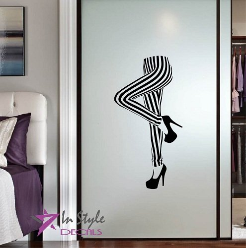 Glamour Sexy Legs - Wall Vinyl Decal Home Decor Art Sticker Sexy Female Legs Glamour Room Removable Stylish Mural Unique Design