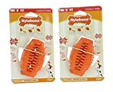Nylabone Lot of 2 Fun N' Fit Small Cone Dog Toy Vanilla Infused Treat Holder Pet