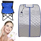 Iglobalbuy 600W Portable FIR/Far Infrared SPA Sauna Room weight Loss Detox Tent + Foot Heating pad