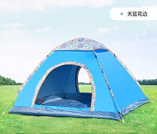 ZHUDJ Feld Camping Zelte, Lampen, Lampen, Vintage Home Automatische Zelte, Mäntel, Angeln, Camping Zelte, Blau