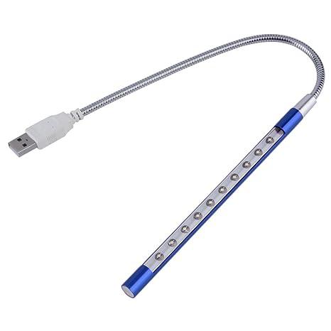 Portátil Super brillante luz LED flexible del USB para el ordenador portátil o el ordenador (
