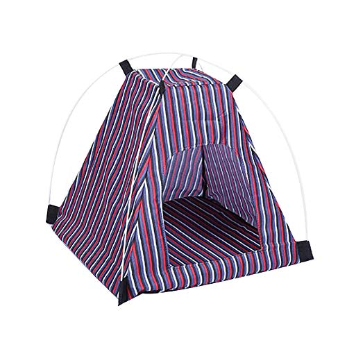 Xguangage All Weather Pet Tent Cartoons Pet House for Cat Disassemble Wash Folding Dog Bed (red)