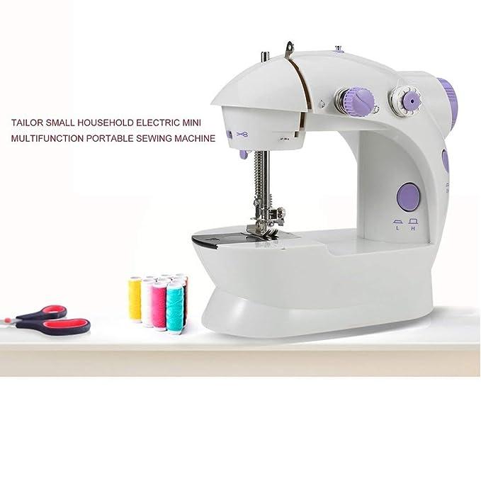 M/últiples funciones el/éctrico Mini m/áquina de coser de escritorio del hogar con LED duradero costura hacia atr/ás hacia adelante