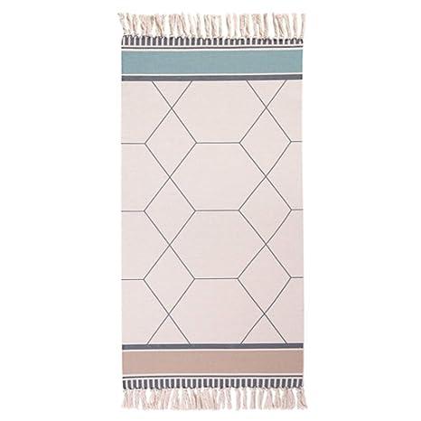 Amazon.com: Wolala Home - Alfombra de algodón marroquí con ...