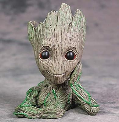 Flowerpot Treeman Heart-shaped Groot Succulent Planter Cute Green Plants Flower Pot with Hole Pen holder
