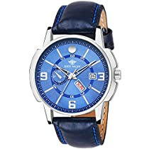 Eddy Hager Blue Day and Date Men's Watch EH-114-BL