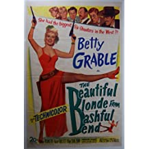 1949 The Beautiful Blonde from Bashful Bend Original Western Movie Poster BETTY GRABLE