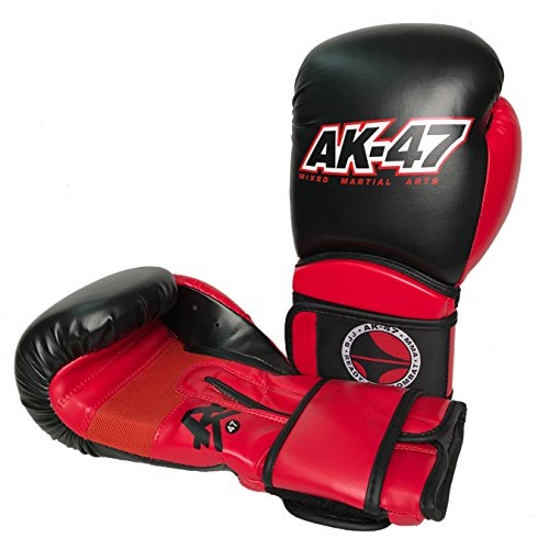 Professional Muay Thai Velcro - AK-47 MMA Vinyl Muay Thai/Boxing Gloves (14oz)