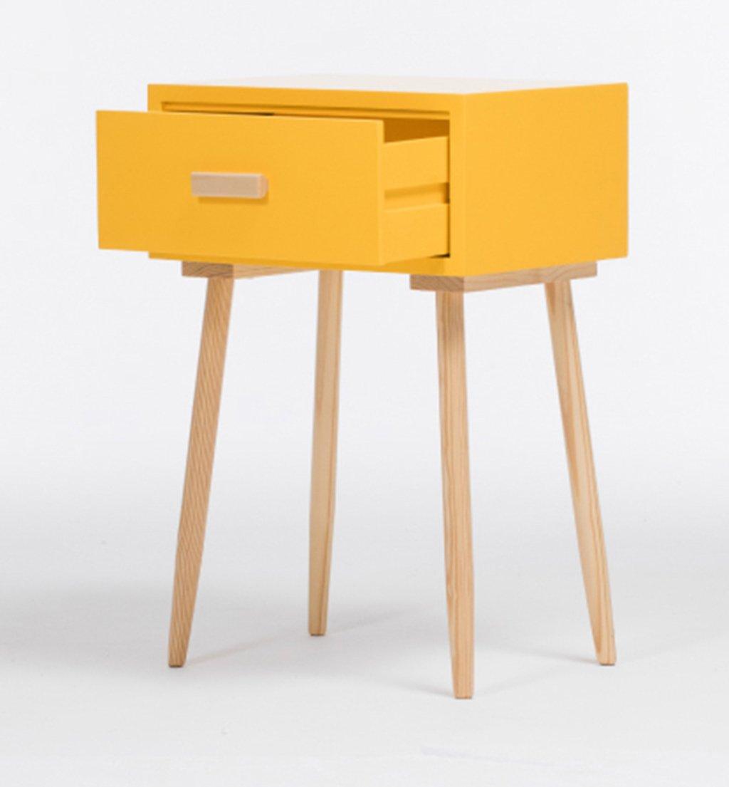 LI JING SHOP - Meubles en bois massif Tables de chevet Chambre simple rangement armoire d'angle