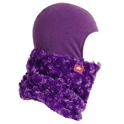Turtle Fur Kids Shellaclava Curly Fur Fleece Shellaclava Purple (Fur Kids Balaclava Turtle)