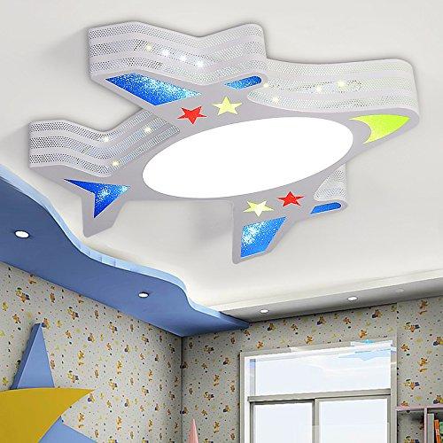 MEIHOME Deckenleuchten Flugzeug LED Kinder Jungen Mädchen 55 * 54 cm 26 W Intelligente Dimmung Fernbedienung Deckenlampe für Schlafzimmer Wohnzimmer Küche Badezimmer