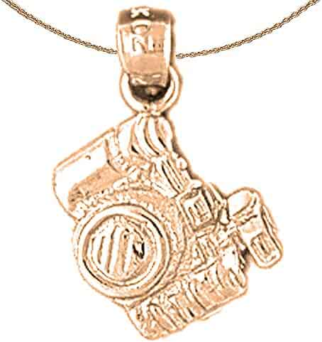 Jewels Obsession Police Badge Necklace 14K Rose Gold-plated 925 Silver Police Badge Pendant with 16 Necklace Pendants