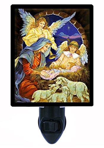Christmas Night Light - Christ's Birth - Nativity Manger & Angel ()