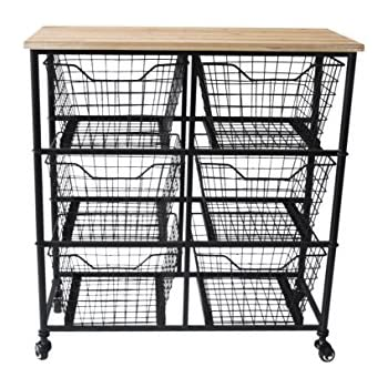 Better Homes And Gardens 6 Drawer Wire Cart Black By Better Homes And Gardens Home