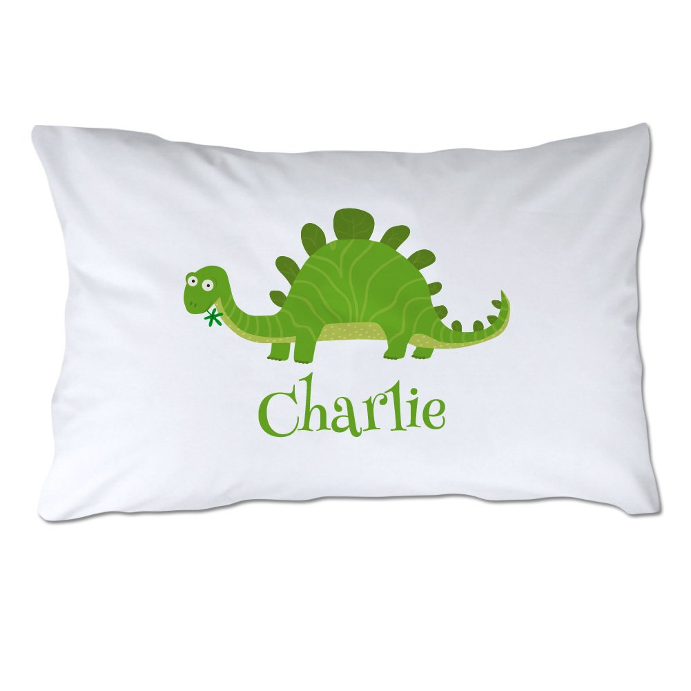 Personalized Toddler Size Dinosaur Pillowcase with Pillow Included