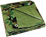 Texsport Heavy-Duty Reinforced Multi-Purpose Reversible Camo Olive Drab Tarp
