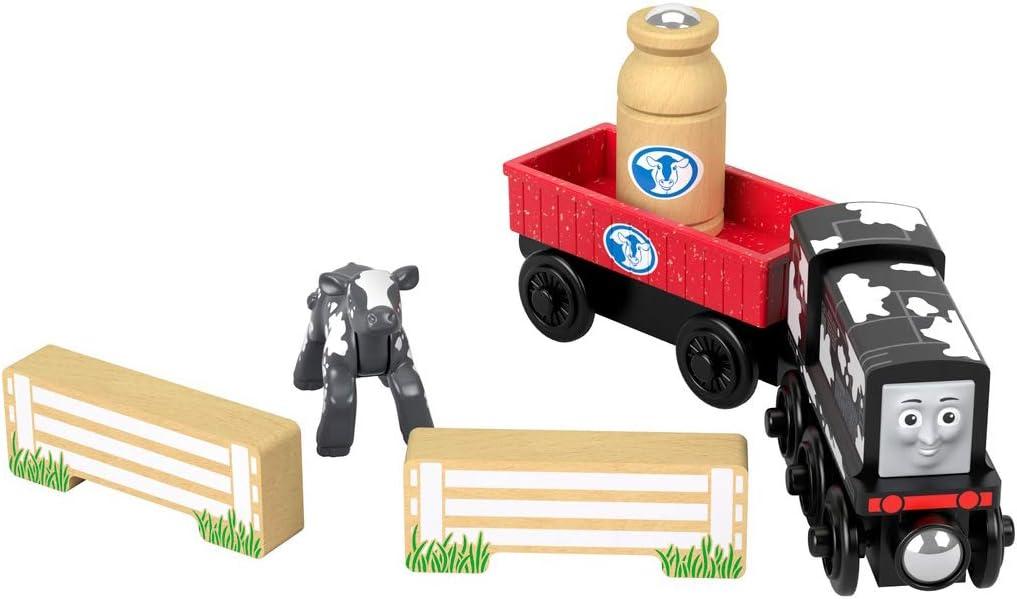 Thomas /& Friends Fisher-Price Wood Diesels Dairy Drop-Off