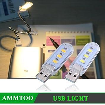 1pcs Mini Portable 5730 SMD 3LED 1.5W USB Reading Light Night Lights Ultra Bright Outdoor