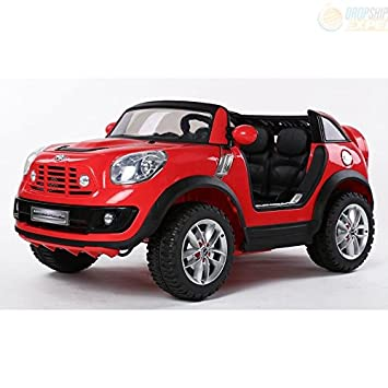 electric battery ride on car for kids mini cooper beachcomber model jj298 red