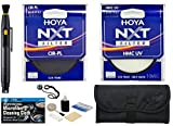 Hoya 52mm NXT HMC UV Multi Coated + Hoya 52mm Circular Polarizer Slim Frame Glass Filters + Pouch + Accessory Kit