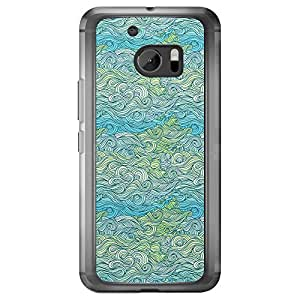Loud Universe HTC M10 Waves 6 Printed Transparent Edge Case - Blue/Green