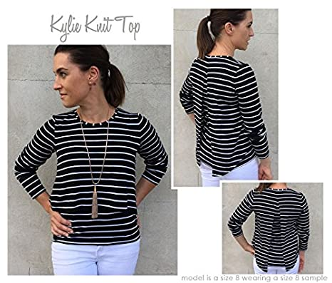 Amazon Style Arc Sewing Pattern Kylie Knit Top Sizes 18 30
