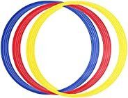 Speed and Agility Training Rings 12 Pcs Multicolor Football Training Rings Plastic Toss Rings Training Hoops f