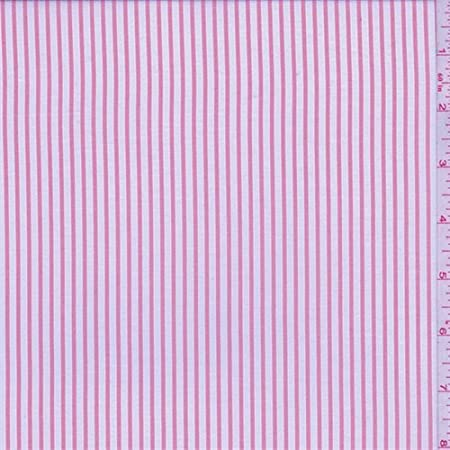 Camisa de poliéster con rayas color rosa y gris, tela por el ...