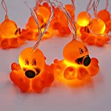 Smart Life Helper Indoor Outdoor 4.9 ft Octopus Cute Animal Ornaments Battery Operated 10 LED Decorative String Lights Party Yard& Garden Kids Bedroom Living-Room Dorm Uses