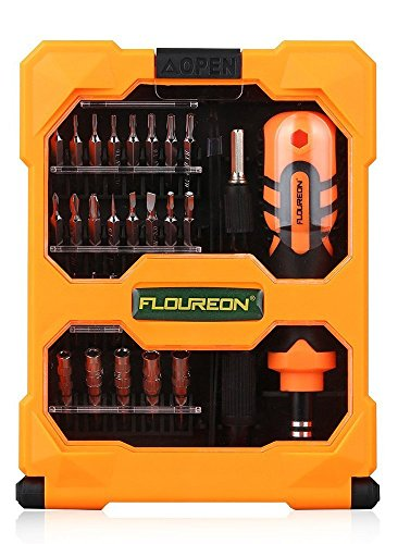 FLOUREON Phone Watch Repair Tool Kit Precision Screwdriver Set Repair Tool Kit 33-piece for iPad iPhone PC Watch Samsung and Other Smartphone Tablet Computer Electronic Devices by FLOUREON (Image #9)
