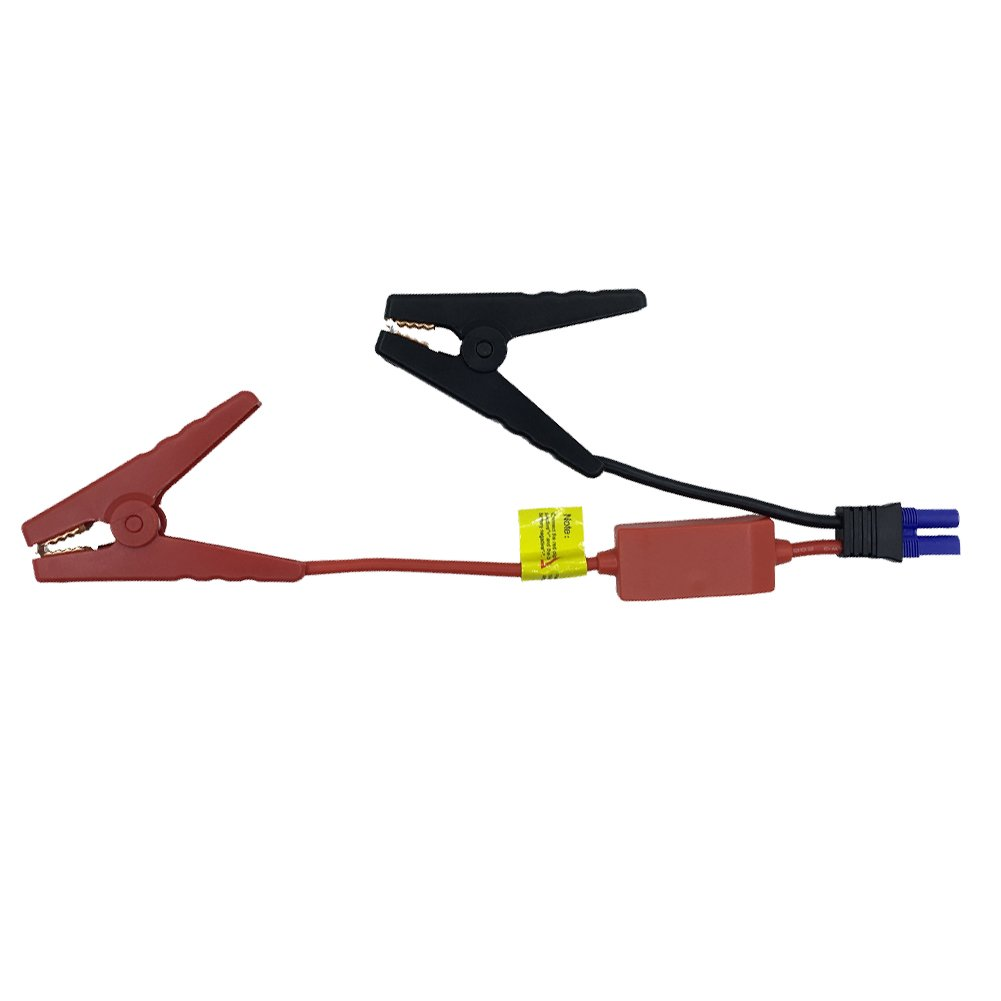 EC5 Jump Starter Qutaway Replacement EC5 Connector Emergency Lead Jumper Cable Alligator Clamp Booster Clips de batterie pour voitures avec protection Safety Box QY-JS-02