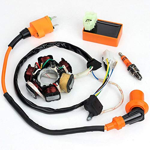 Racing Ignition Coil CDI Regulator Rectifier Relay ATV 150cc 200cc 250cc 125c GY6 Spark Plug Ignition System coil Set:
