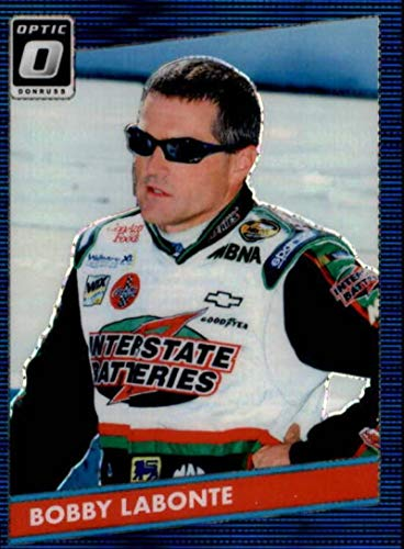 2019 Donruss Optic Blue Pulsar #61 Bobby Labonte 1986 Retro Interstate Batteries/Joe Gibbs Racing/Pontiac Racing Trading Card