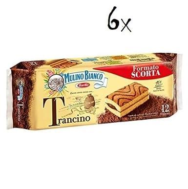 Mulino Bianco trancino Pastel de chocolate Cacao Chocolate Galletas Brioches Cookies: Amazon.es: Alimentación y bebidas