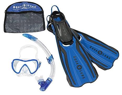 49247e170542 Aqua Lung Unisex s Sport Amika Travel Snorkelling Set-Blue