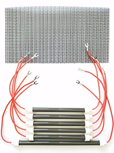 250w Bulb Heater - SET OF 6 OEM BULBS/HEATING ELEMENTS + Filter for EdenPURE XL 1000 & GEN3 1000 Heaters and more