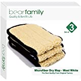 Microfiber Mop 16inch Dry Mop Refill For Hardwood Floors Wool White Set of 3 by Bear Family