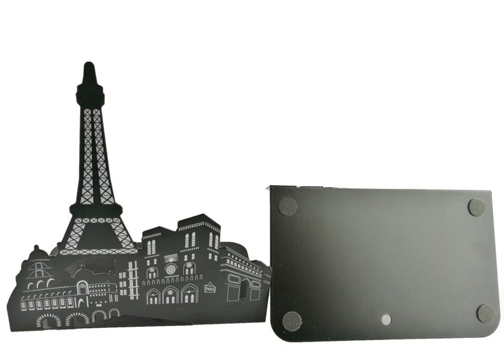 Winterworm One Pair Fashion Modern European American Architecture Landmark Theme Style Thickening Iron Library School Metal Bookends Book End Perfect Mothers Day Gift New York Statue Of Liberty