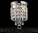Moooni Modern Drum Crystal Chandelier Lighting Raindrop 1 – Light Ceiling Pendant Lamp For Hallway Foyer