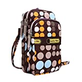 Cute Mini Crossbody Bag for Women Small Handbags Wristlet Wallet Shoulder Bag Cell-phone Pouch Coin Purse (C)
