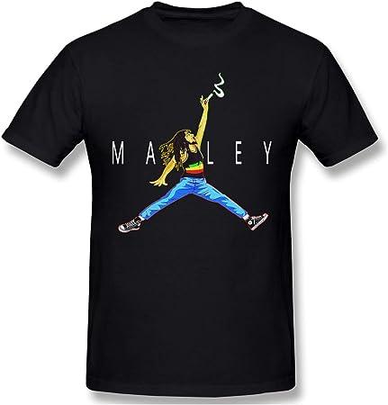 Cute Pink Piglet Air Marley Bob-Marley Camiseta de Manga Corta para Hombre Athletic Casual Camisetas para Hombres Camiseta con Estilo