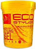 ECOCO EcoStyler Styling Gel Color Treated Max Hold 10,Yellow 32 oz (Pack of 2)